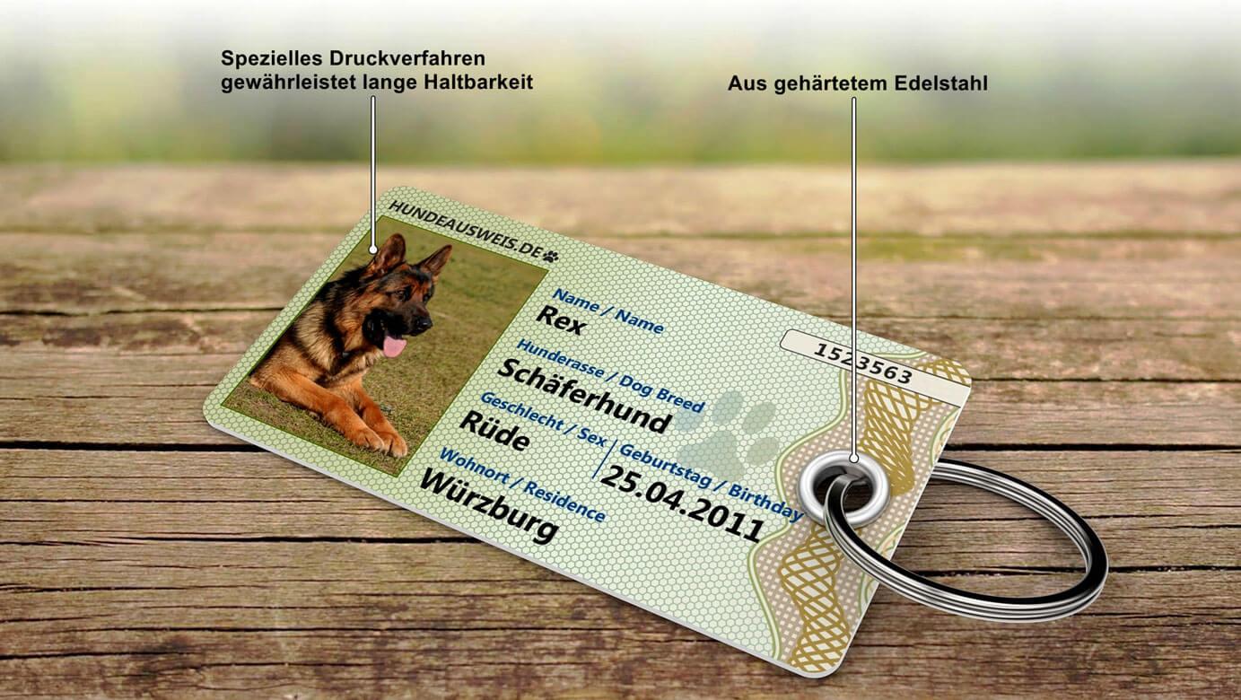 Der Hundeausweis mit speziellen Druckverfahren